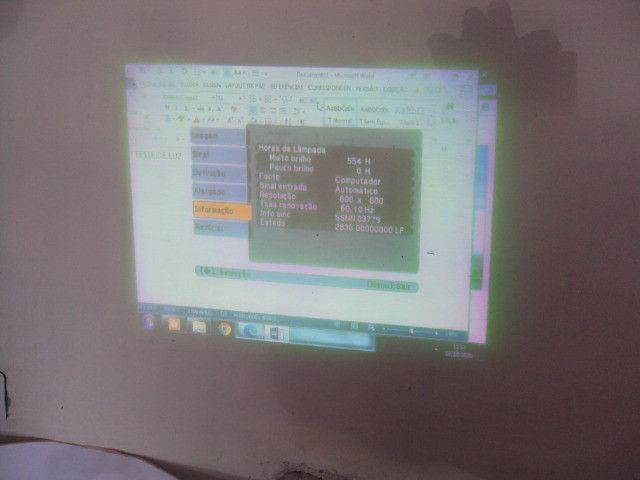 Projetor Epson S6+ lampada com projeção borrada - Foto 6