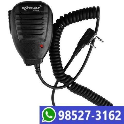Microfone Ptt Para Rádio Ht Comunicador Knup Kp-914