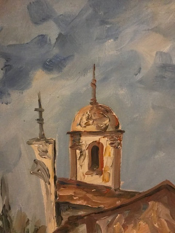 Quadro Pintura a Óleo (Rua de Ouro Preto/MG) - Foto 5