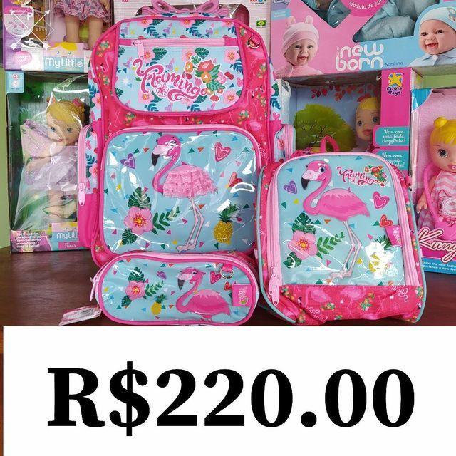 Kit de mochilas de rodinha