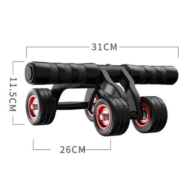 Rolo para exercício abdominal e lombar 4 rodas - Foto 5
