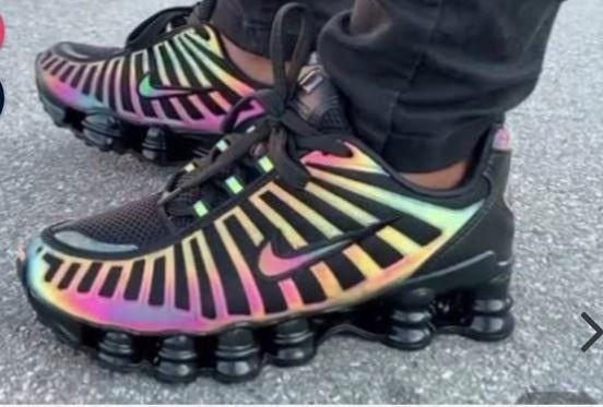 Tênis Nike Shox 12 Molas Camaleão  - Foto 3