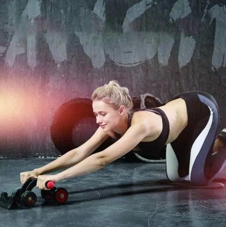 Rolo para exercício abdominal e lombar 4 rodas - Foto 2