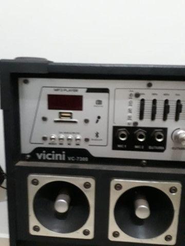 Conjunto de Caixa de som amplificadora vicini vc 7300 - Foto 3