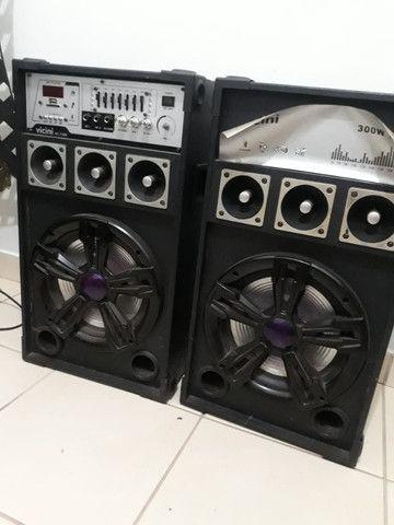 Conjunto de Caixa de som amplificadora vicini vc 7300 - Foto 4