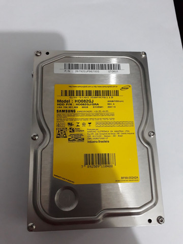 HD Sata Samsung 80GB 7200rpm