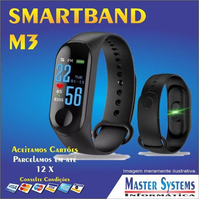 Relógio Pulseira M3 Smartband Inteligente Monitor Cardíaco