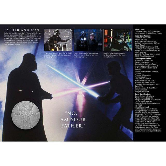 Medalha Star Wars Skywalker Family Edição Limitada-uk - Foto 3