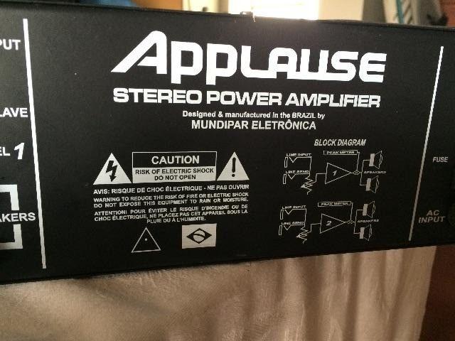 Amplificador P.A 1800 Applause Extreme - Foto 2