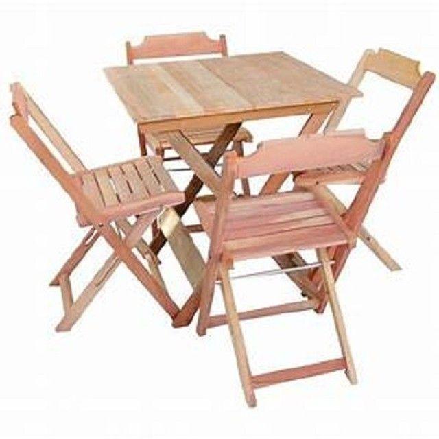 Mesa e cadeiras dobráveis - Foto 2