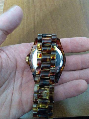 Relógio EURO feminino marrom e dourado - Foto 3