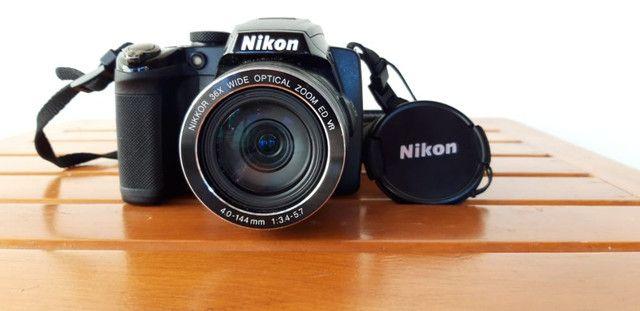 Nikon P500 com Frete Grátis (bateria Fraca)
