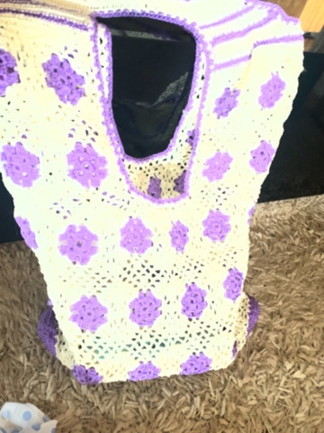 Bolsa de crochê nova - tecida com fios de seda - Foto 3