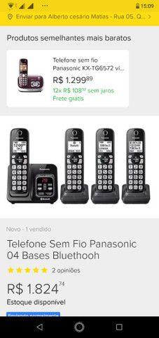 Telefone Secretaria eletrônica Panasonic  - Foto 4
