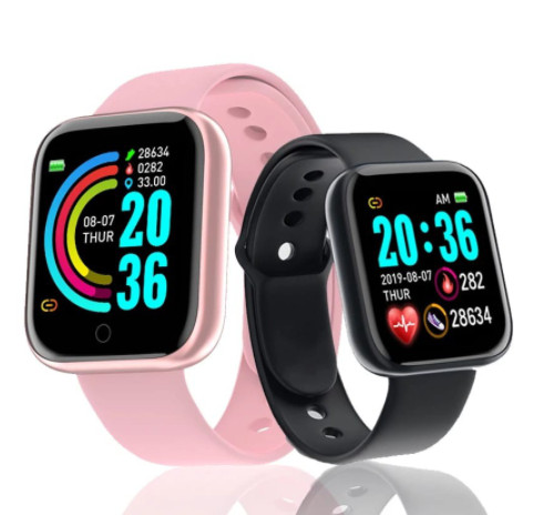 Relógio Inteligente Smartwatch Y68/D20 Bluetooth Android/ios - Preto, Prata e Branco - Foto 3