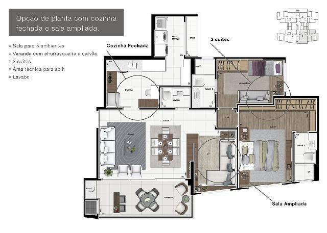 Apartamento Novo Alto Padrão no Ecoville - Foto 6