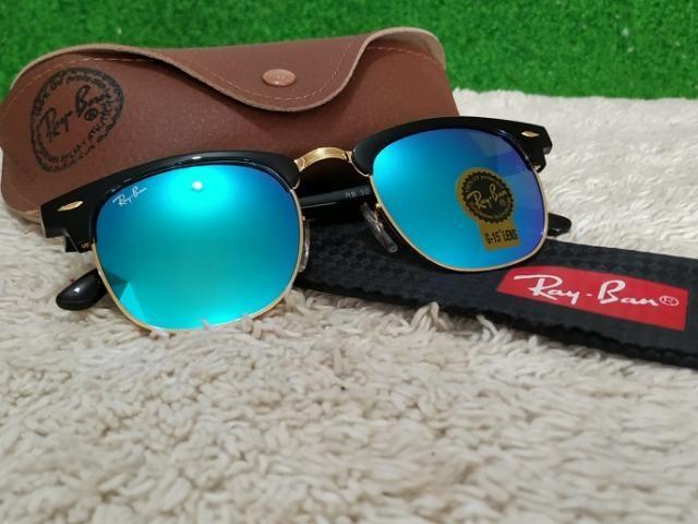 a33daea28fcb5 Óculos Ray Ban Clubmaster com lentes azuis - Bijouterias, relógios e ...