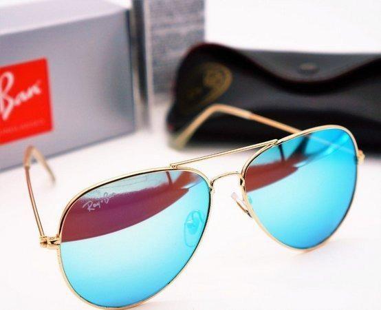e70f9e107 Ray Ban Azul Aviator Espelhado Original - Bijouterias, relógios e ...