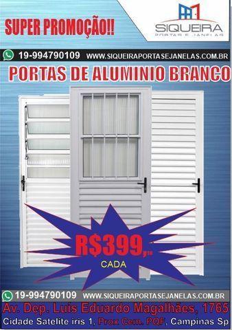 Portas de Aluminio Branco - Promoção Estendida fim de ano