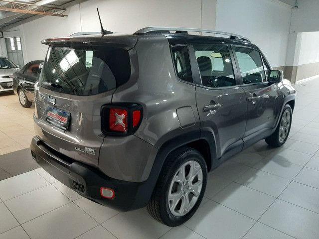 Jeep renegade automática limited 6 marchas banco de couro multimídia único dono 2018 - Foto 12
