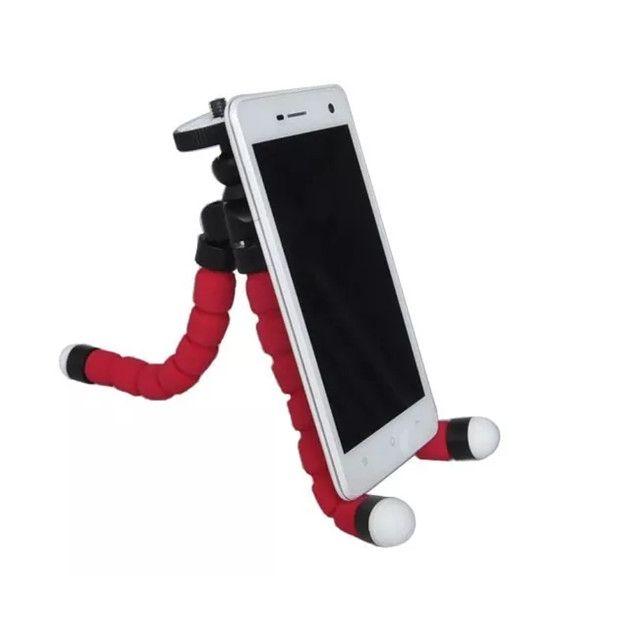 Tripé Flexível Articulado Suporte Celular Selfie Câmera - Foto 4