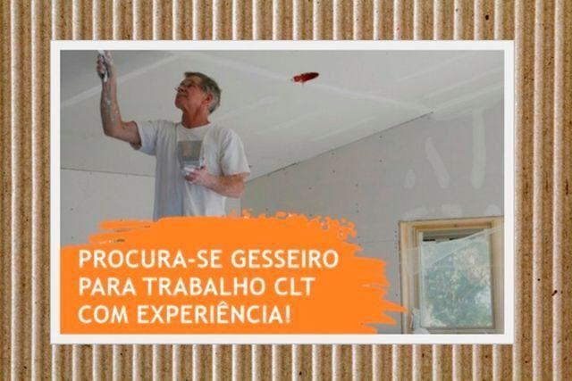Contrata Gesseiro CLT