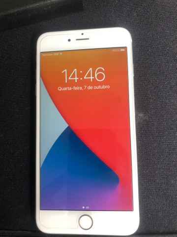 Iphone 6 plus semi novo na garantia 64gb