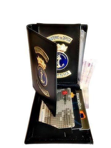 Carteira em couro da Marinha - Foto 3