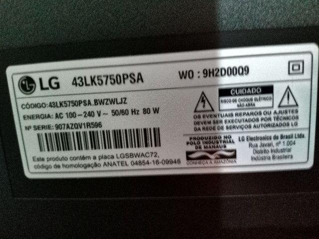 Tv smart LG 43'- Tela quebrada - Foto 3