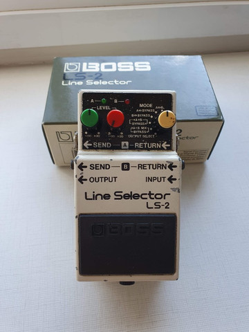 Pedal Pedal Boss Line Selector Ls-2 (loop, Aby, Power Supply)