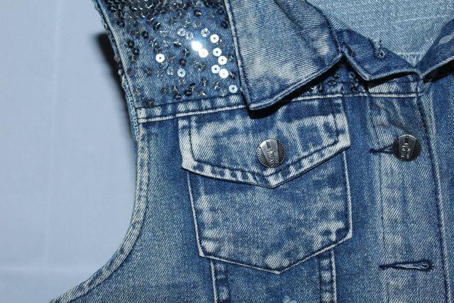 Colete jeans feminino - Foto 2