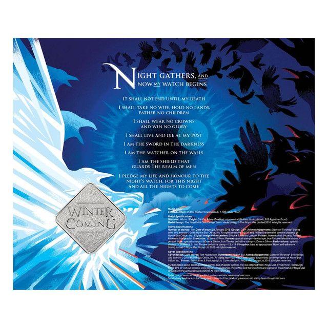 Medalha Game Of Thrones House Stark Edição Limitada - Foto 4