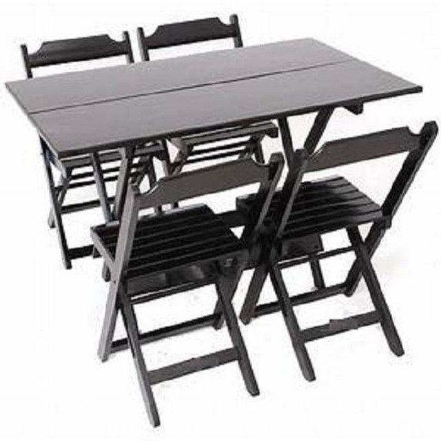 Mesa e cadeiras dobráveis - Foto 4