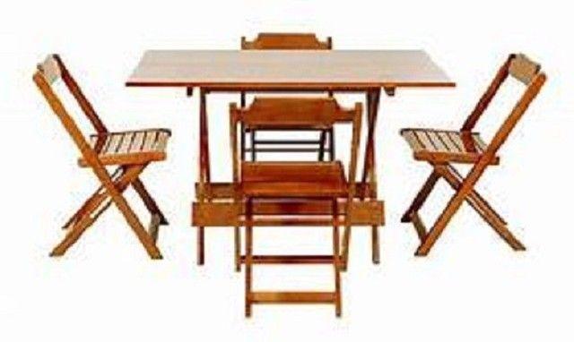 Mesa e cadeiras dobráveis - Foto 6