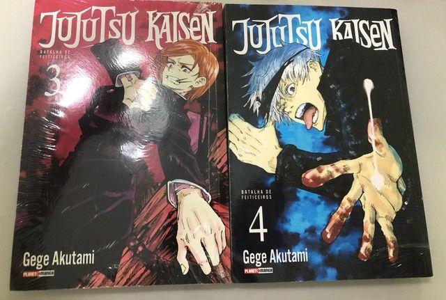 Mangá Jujutsu Kaisen volumes 3 e 4 novos e lacrados