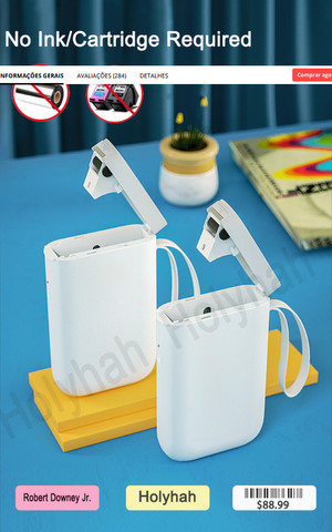 Impressora De Etiquetas Térmica Portátil Sem Fio Niimbot D11 - Foto 4