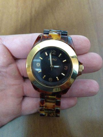 Relógio EURO feminino marrom e dourado - Foto 2
