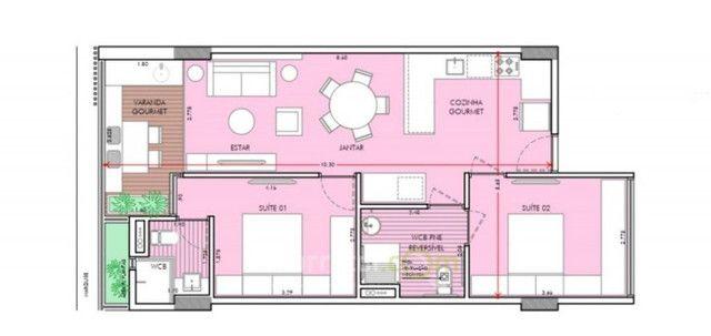 Apartamento com 1 Quarto em construção no Bairro de Tambaú - Foto 9