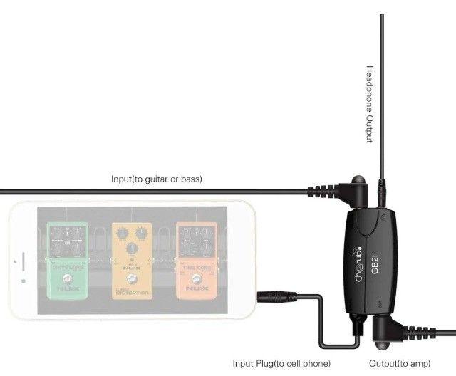 Interface De Áudio Som - Cherub gb2i  P/ Lives Podcast Igual Irig2 - Foto 2