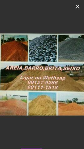Areia , Barro , Brita , seixo
