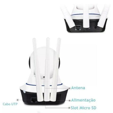 Câmera Ip 3 Antenas Wireless Sem Fio Onvif Wifi Hd Sensor Noturna Rotação App Smartphone - Foto 6