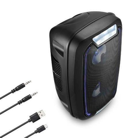 Caixa de Som Mini Torre Party Tws Bluetooth 5.0 Sp336 Multilaser 200W Rms Luzes Led Usb - Foto 4