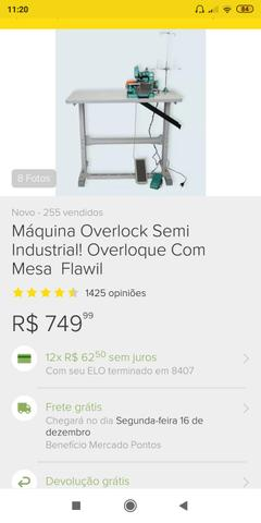 Overloque semi industrial + mesa - Foto 6
