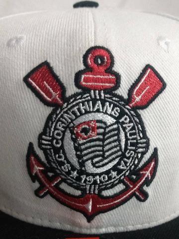 Boné Aba Reta Corinthians Branco Timão New Era - Bijouterias ... 2643190e739