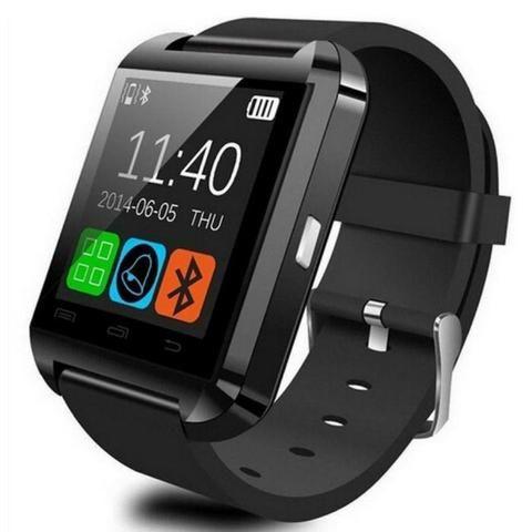 fcfbd04aaab SmartWatch U8 Preto Relogio Inteligente Apple Watch - Bijouterias ...