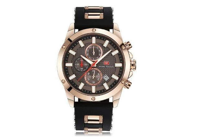 56b6c89c155 Relógio Masculino Aço Inox Borracha Azul Dourado Mini Focus ...