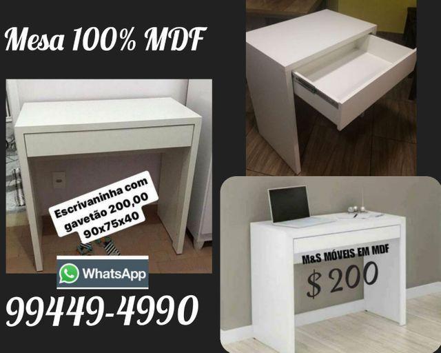 Mesa com gavetão em mdf