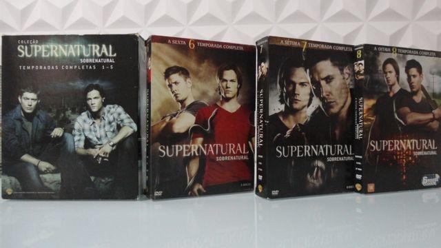 Box DVDs Supernatural Temporadas 1-8 Completas