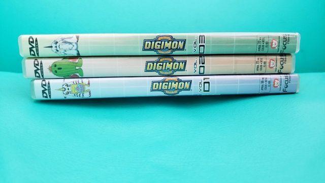Box De Dvds Digimon Volume 1. Usado. Em Perfeito Estado! - Foto 3
