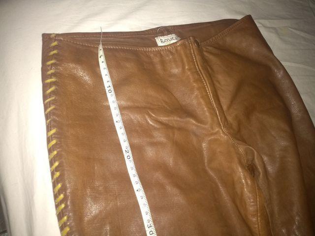 Calça de couro +os acessórios veste 42/44 - Foto 4